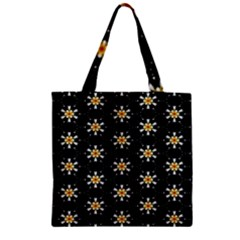 Background For Scrapbooking Or Other With Flower Patterns Zipper Grocery Tote Bag