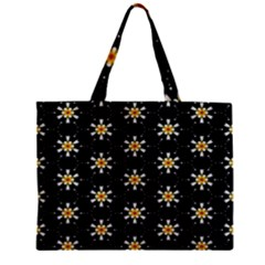 Background For Scrapbooking Or Other With Flower Patterns Zipper Mini Tote Bag