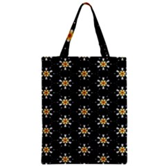 Background For Scrapbooking Or Other With Flower Patterns Zipper Classic Tote Bag