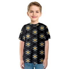 Background For Scrapbooking Or Other With Flower Patterns Kids  Sport Mesh Tee