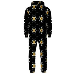 Background For Scrapbooking Or Other With Flower Patterns Hooded Jumpsuit (men)
