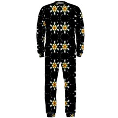 Background For Scrapbooking Or Other With Flower Patterns OnePiece Jumpsuit (Men)