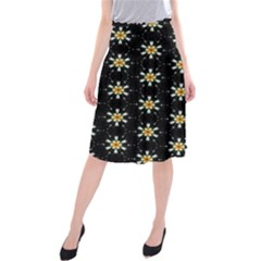 Background For Scrapbooking Or Other With Flower Patterns Midi Beach Skirt