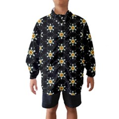 Background For Scrapbooking Or Other With Flower Patterns Wind Breaker (kids)