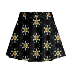 Background For Scrapbooking Or Other With Flower Patterns Mini Flare Skirt