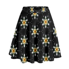 Background For Scrapbooking Or Other With Flower Patterns High Waist Skirt