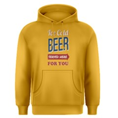 Yellow Ice Cold Beer Served Here For You  Men s Pullover Hoodie