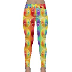 Background For Scrapbooking Or Other Classic Yoga Leggings