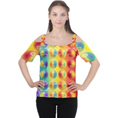 Background For Scrapbooking Or Other Women s Cutout Shoulder Tee