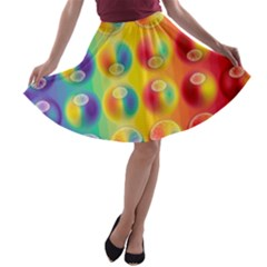 Background For Scrapbooking Or Other A Line Skater Skirt