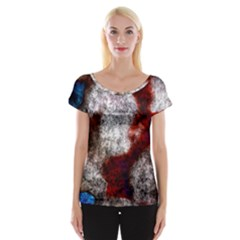 Background For Scrapbooking Or Other Women s Cap Sleeve Top