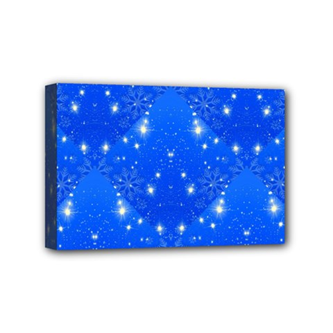 Background For Scrapbooking Or Other With Snowflakes Patterns Mini Canvas 6  x 4