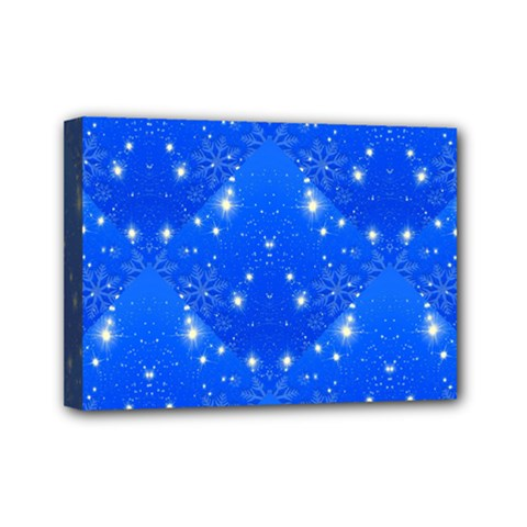 Background For Scrapbooking Or Other With Snowflakes Patterns Mini Canvas 7  x 5