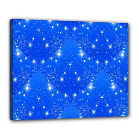 Background For Scrapbooking Or Other With Snowflakes Patterns Canvas 20  x 16