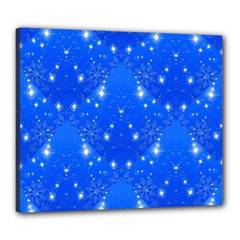 Background For Scrapbooking Or Other With Snowflakes Patterns Canvas 24  x 20