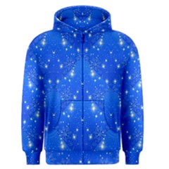 Background For Scrapbooking Or Other With Snowflakes Patterns Men s Zipper Hoodie