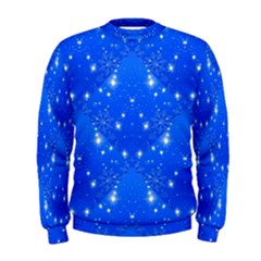 Background For Scrapbooking Or Other With Snowflakes Patterns Men s Sweatshirt