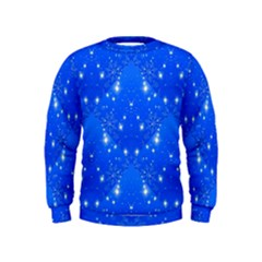 Background For Scrapbooking Or Other With Snowflakes Patterns Kids  Sweatshirt