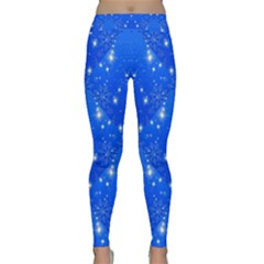 Background For Scrapbooking Or Other With Snowflakes Patterns Classic Yoga Leggings