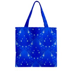 Background For Scrapbooking Or Other With Snowflakes Patterns Zipper Grocery Tote Bag