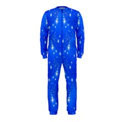 Background For Scrapbooking Or Other With Snowflakes Patterns Onepiece Jumpsuit (kids)