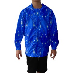 Background For Scrapbooking Or Other With Snowflakes Patterns Hooded Wind Breaker (kids)