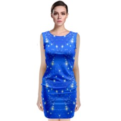 Background For Scrapbooking Or Other With Snowflakes Patterns Classic Sleeveless Midi Dress