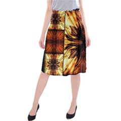 Background Pattern Midi Beach Skirt