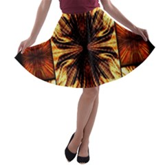 Background Pattern A Line Skater Skirt