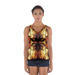 Background Pattern Women s Sport Tank Top