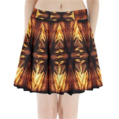 Background Pattern Pleated Mini Skirt