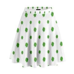 Saint Patrick Motif Pattern High Waist Skirt