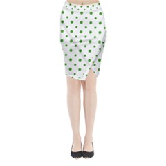 Saint Patrick Motif Pattern Midi Wrap Pencil Skirt