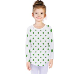 Saint Patrick Motif Pattern Kids  Long Sleeve Tee