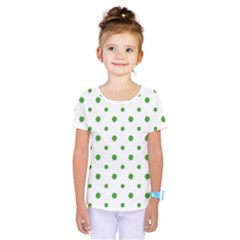 Saint Patrick Motif Pattern Kids  One Piece Tee