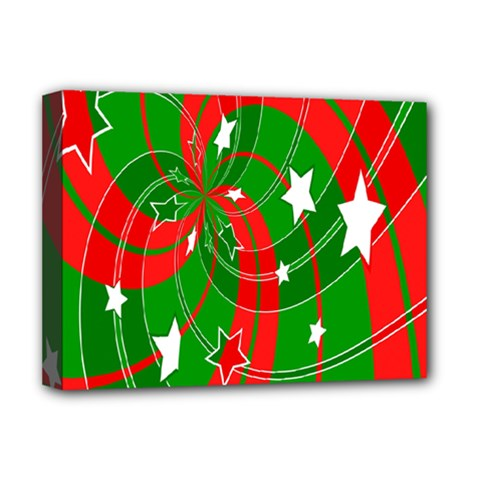 Background Abstract Christmas Deluxe Canvas 16  x 12
