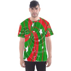 Background Abstract Christmas Men s Sport Mesh Tee