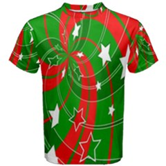 Background Abstract Christmas Men s Cotton Tee