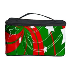 Background Abstract Christmas Cosmetic Storage Case