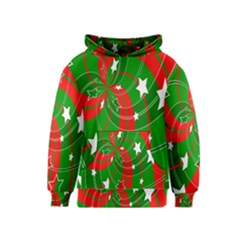 Background Abstract Christmas Kids  Pullover Hoodie