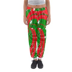 Background Abstract Christmas Women s Jogger Sweatpants