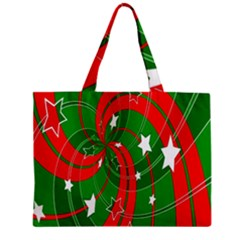 Background Abstract Christmas Zipper Mini Tote Bag