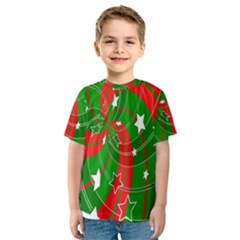 Background Abstract Christmas Kids  Sport Mesh Tee