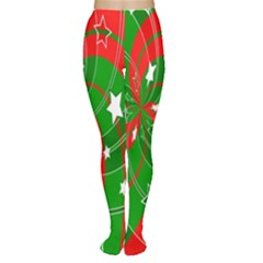 Background Abstract Christmas Women s Tights