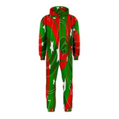 Background Abstract Christmas Hooded Jumpsuit (Kids)