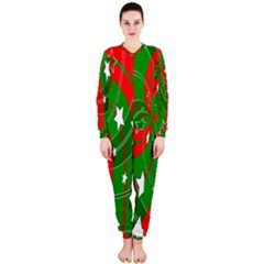 Background Abstract Christmas Onepiece Jumpsuit (ladies)