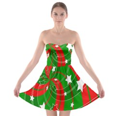 Background Abstract Christmas Strapless Bra Top Dress