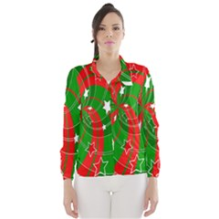 Background Abstract Christmas Wind Breaker (women)