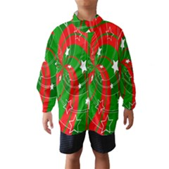 Background Abstract Christmas Wind Breaker (kids)