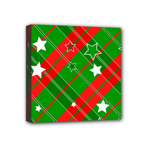 Background Abstract Christmas Mini Canvas 4  x 4